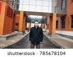 young brutal male armenian with ... | Shutterstock . vector #785678104