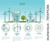 ecology city landscapes  urban... | Shutterstock .eps vector #785694286