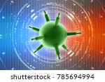 3d rendering viruses in... | Shutterstock . vector #785694994