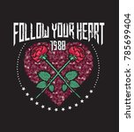 follow your heart.feminism... | Shutterstock .eps vector #785699404
