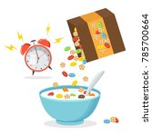 vector illustration. cereal... | Shutterstock .eps vector #785700664
