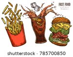 sketch levitation fast food... | Shutterstock .eps vector #785700850
