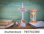 questions and answers. signpost ... | Shutterstock . vector #785702380