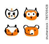concept of facial animal avatar ... | Shutterstock .eps vector #785705428