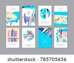 set of creative universal... | Shutterstock . vector #785705656