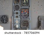 airplane pilot's cockpit with... | Shutterstock . vector #785706094