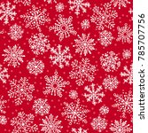snowflakes decorative seamless... | Shutterstock . vector #785707756