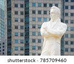 statue of sir tomas stamford... | Shutterstock . vector #785709460