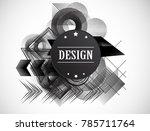minimalist creative concept .... | Shutterstock .eps vector #785711764