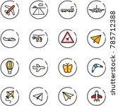 line vector icon set   plane... | Shutterstock .eps vector #785712388