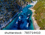 aerial view with drone over the ... | Shutterstock . vector #785714410