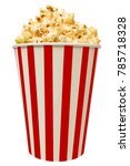 isolated popcorn in striped... | Shutterstock . vector #785718328