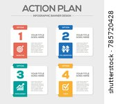 action plan infographic icons | Shutterstock .eps vector #785720428
