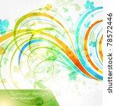 floral summer design elements... | Shutterstock .eps vector #78572446
