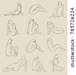 vector illustration of nude... | Shutterstock .eps vector #785726224