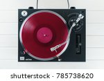 turntable vinyl record player... | Shutterstock . vector #785738620