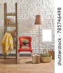 modern home decoration interior ... | Shutterstock . vector #785746498