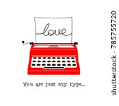 typewriter illustration with... | Shutterstock .eps vector #785755720