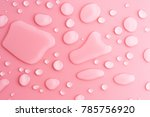 water drops on pink background | Shutterstock . vector #785756920