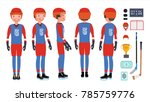 professional ice hockey player... | Shutterstock .eps vector #785759776