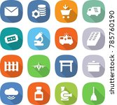 flat vector icon set   mail... | Shutterstock .eps vector #785760190