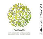 paleo diet  vector background... | Shutterstock .eps vector #785760514