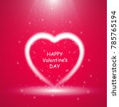 happy valentines day greeting... | Shutterstock .eps vector #785765194