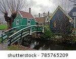 zaanse schans  netherlands  ... | Shutterstock . vector #785765209