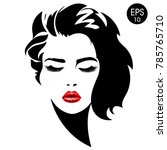 woman face. vector fashion... | Shutterstock .eps vector #785765710