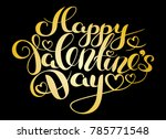 happy valentines day card. hand ... | Shutterstock .eps vector #785771548