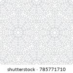 abstract floral line oriental...   Shutterstock .eps vector #785771710