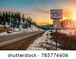 colorado highway 550. famous...   Shutterstock . vector #785776606