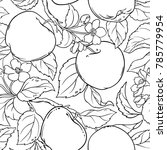 apple seamless pattern | Shutterstock .eps vector #785779954