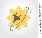 sun energy logo. solar power... | Shutterstock .eps vector #785781220