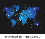 world map silhouette with... | Shutterstock .eps vector #785783410