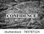 confidence. torn pieces of...   Shutterstock . vector #785787124