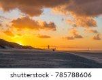 a couple having a romantic walk ... | Shutterstock . vector #785788606