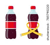 regular and diet soda bottles... | Shutterstock .eps vector #785790220