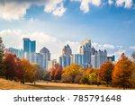 atlanta  georgia  usa midtown... | Shutterstock . vector #785791648