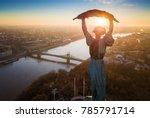budapest  hungary   aerial... | Shutterstock . vector #785791714