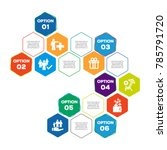 employee benefits infographic  | Shutterstock .eps vector #785791720