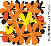 whimsical floral  background ... | Shutterstock .eps vector #785797009