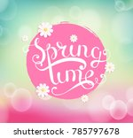 spring time with chamomile on... | Shutterstock . vector #785797678