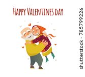 happy valentine day greeting... | Shutterstock .eps vector #785799226