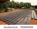ground mounted solar power... | Shutterstock . vector #785800000