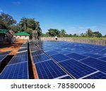 ground mounted solar power... | Shutterstock . vector #785800006