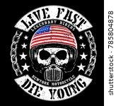 vintage motorcycle skull t... | Shutterstock .eps vector #785804878