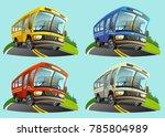 vector images  buses in... | Shutterstock .eps vector #785804989