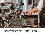 girl barista bartender waiter... | Shutterstock . vector #785812030