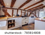 heavily beamed kitchen within a ... | Shutterstock . vector #785814808